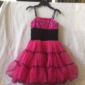 Ooh! La, La! Couture girl's pink dress size 12